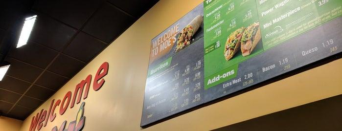 Moe's Southwest Grill is one of สถานที่ที่บันทึกไว้ของ Michelle.