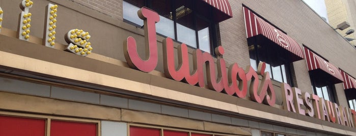Junior's Restaurant is one of NYC.