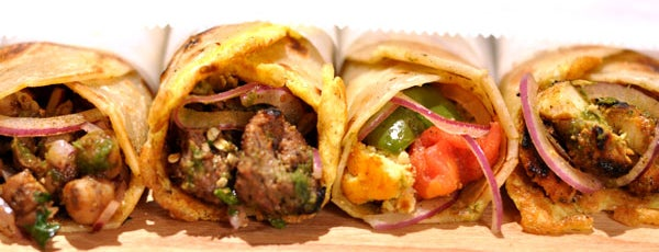 The Kati Roll Company is one of EV Snack Tour.