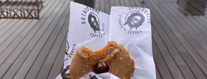 Grindstone Coffee & Donuts is one of Hamptons F&B Favorites.