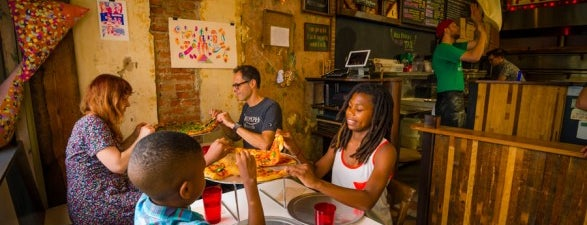 Pizza Brain is one of Pope-Inspired Philly Eats.