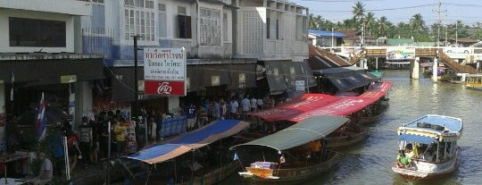 Amphawa Floating Market is one of Explore Bangkok.