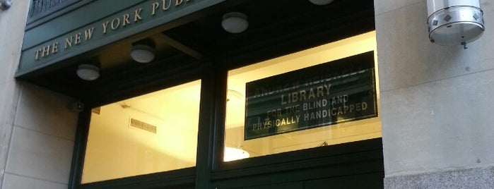 New York Public Library - Andrew Heiskell Braille & Talking Book Library is one of JT.