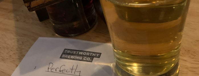 Trustworthy Brewing Co. is one of Placestoeat.
