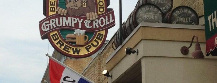 The Grumpy Troll Brew Pub and Pizzeria is one of Tempat yang Disukai Benjamin.