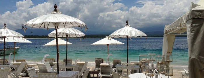 Scallywags Organic Beach Club is one of Gili + Lombok.