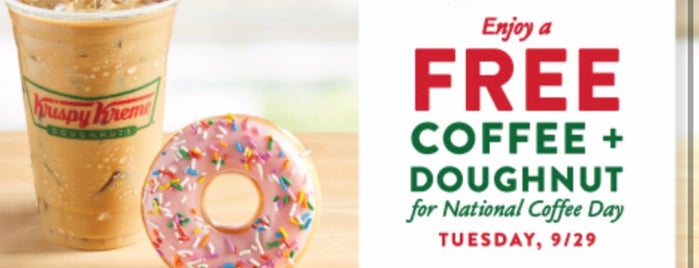 Krispy Kreme Doughnut is one of Jim : понравившиеся места.