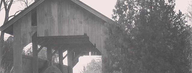 Holmes Creek Covered Bridge is one of Vermont's Covered Bridges.