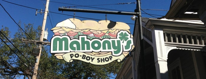 Mahony's Po-Boy Shop is one of Posti salvati di Christopher.