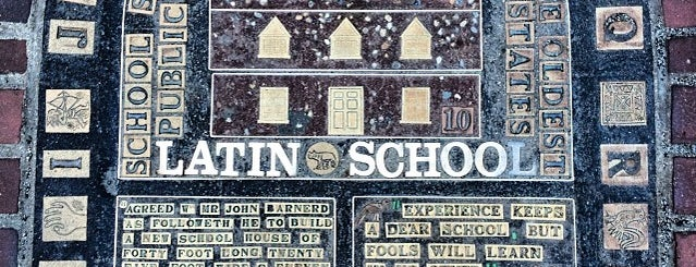 Boston Latin School Plaque is one of Revolutionary War Trip.