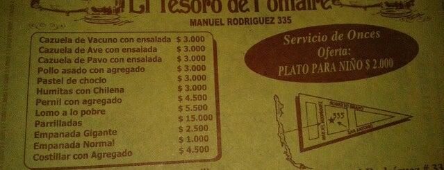 Restaurant El Tesoro de Pomaire is one of Orte, die Jorge gefallen.