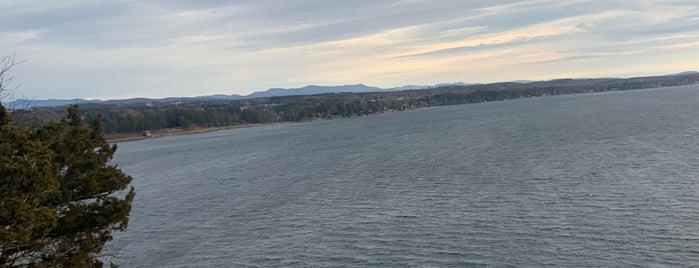 Lake Champlain is one of Adirondacks and Vermont.