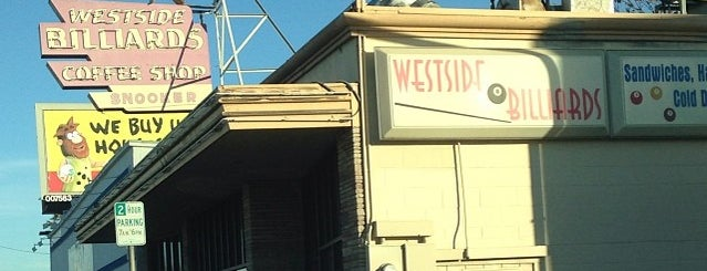 Westside Billards is one of Northern CALIFORNIA: Vintage Signs.