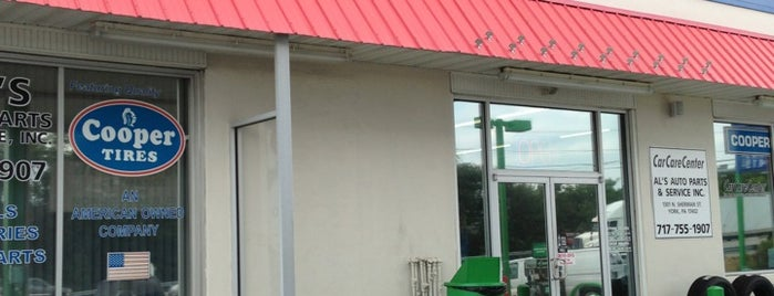 Al's Auto Parts & Service is one of Must-visit Gas Stations or Garages in York.