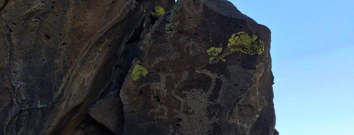 La Cieneguilla Petroglyph Site is one of santa fe.