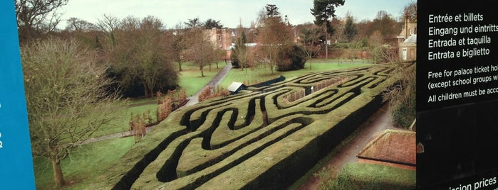 Hampton Court Palace Maze is one of London date places.