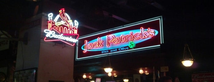 Jack Patrick's Bar & Grill is one of Drew's favorites.