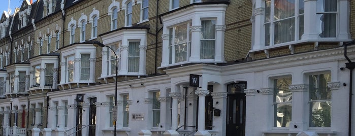 The W14 Hotel Kensington London is one of P.T. : понравившиеся места.