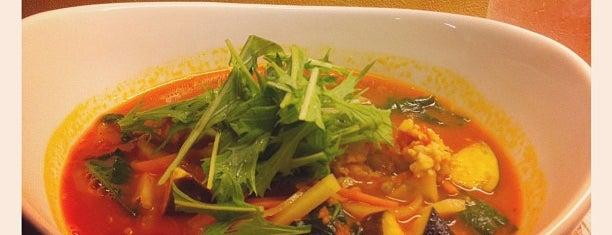 トマト麺 Vegie is one of つじやんさんの保存済みスポット.