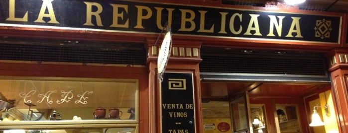 La Republicana is one of Nueve buenos bares de tapas en Zaragoza.