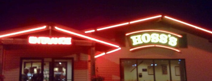 Hoss's Steak & Sea House is one of Places to try someday.