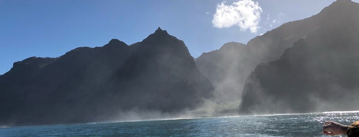 Beautiful NaPali Cove is one of Stevenson Favorite US Beaches.