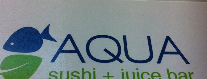 Aqua Sushi + Juice Bar is one of Lugares favoritos de Kelly.