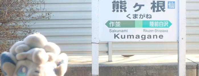 Kumagane Station is one of JR 미나미토호쿠지방역 (JR 南東北地方の駅).