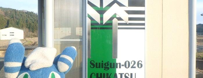 Chikatsu Station is one of JR 미나미토호쿠지방역 (JR 南東北地方の駅).