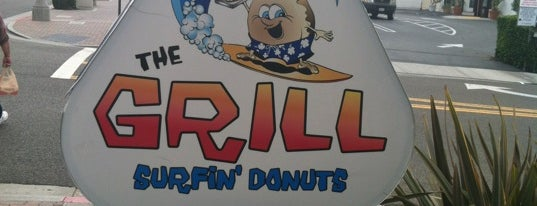 The Grill at Surfin Donuts is one of Tempat yang Disukai Hey.