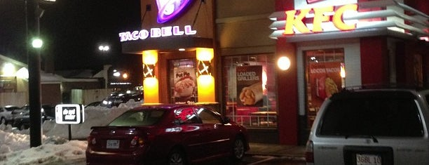 Taco Bell/KFC is one of Mat's Liked Places.