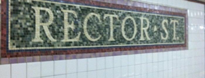 MTA Subway - Rector St (1) is one of Manhattan Neighbohoods.