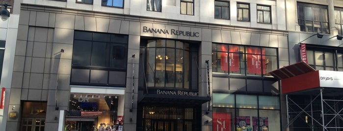 Banana Republic is one of Favorites.