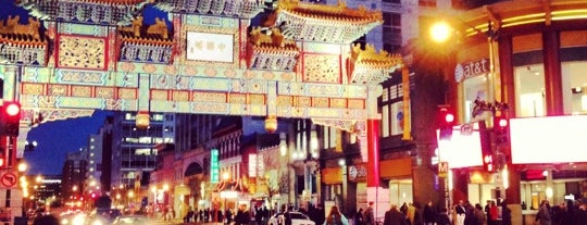 Chinatown is one of Washington DC.