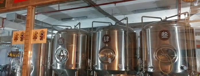 Moonzen Brewery 門神啤酒廠 is one of สถานที่ที่บันทึกไว้ของ Sergio.