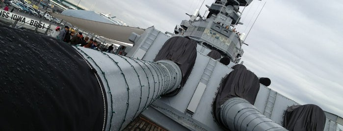 USS Iowa (BB-61) is one of West Coast Sites.