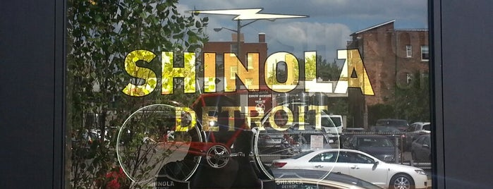 Shinola Store Detroit is one of Tempat yang Disukai Stuart.