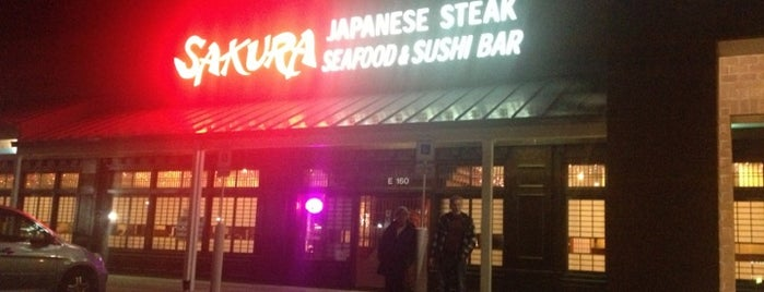 Sakura Japanese & Seafood House & Sushi Bar is one of CeCe's Places.
