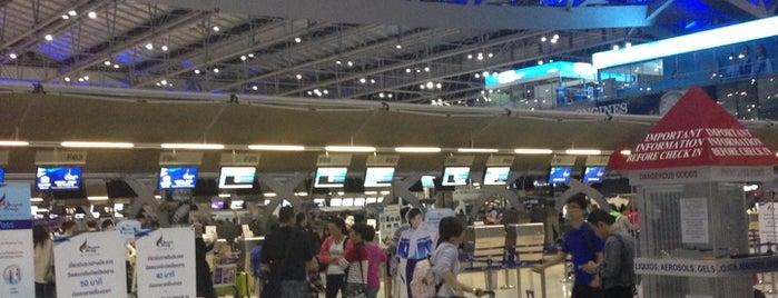Flughafen Suvarnabhumi (BKK) is one of สนามบินนานาชาติ (1).