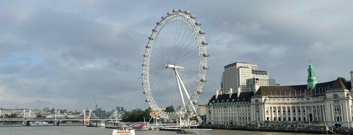 London Eye / Waterloo Pier is one of London eats/drinks/shopping/stays.