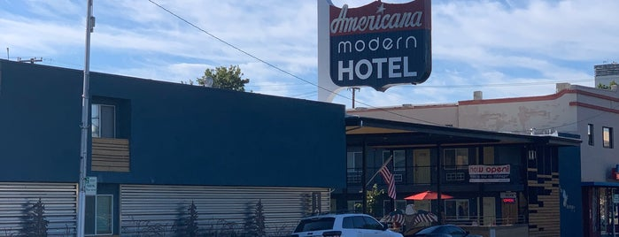 Americana Modern Hotel is one of Neon/Signs N. California 2.