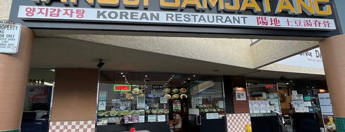 Yangji Gamjatang is one of LA To-Do.