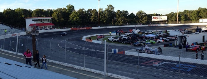 Orange County Speedway is one of race tracks.