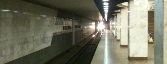 Станция «Академмистечко» is one of Samet : понравившиеся места.