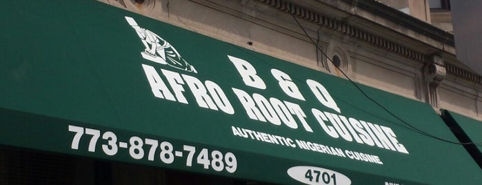 Afro Root Cuisine is one of ChicagoCabFare.com: Verified Authentic Ethnic Eats.