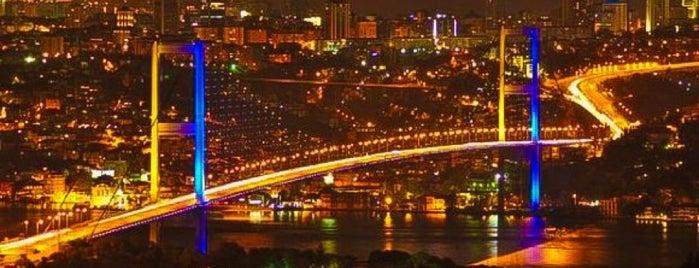 Boğaziçi Köprüsü is one of Türkiye'de En Çok Check-in Yapılan Mekanlar.