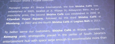 Shisha Cafe is one of Jakarta.