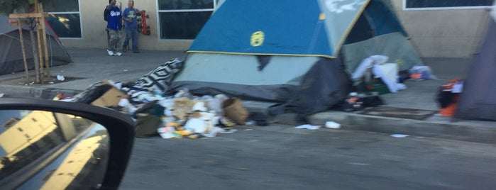Skid Row is one of Los Angeles.