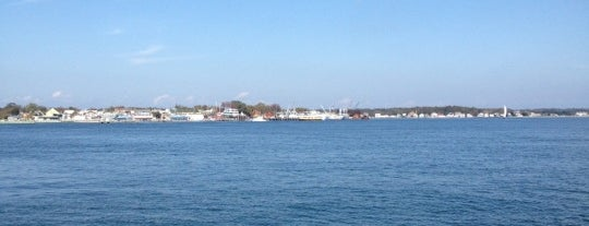 On the North Ferry: Greenport - Shelter Island is one of North Fork Fun and Games.