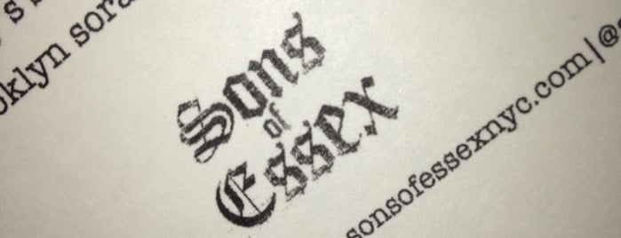 Sons of Essex is one of Dashstablishments.